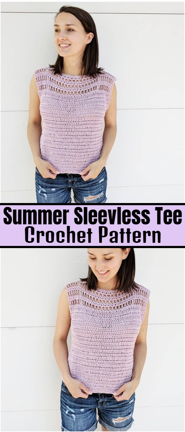 Crochet Summer Sleevless Tee