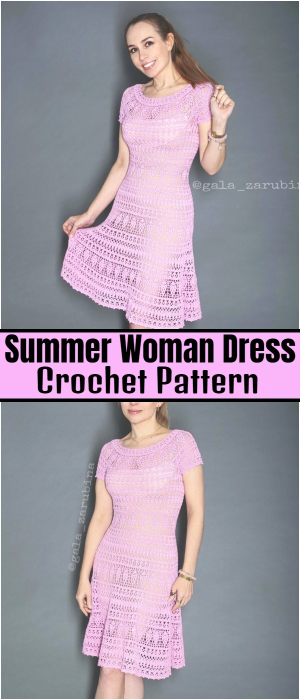 Crochet Summer Woman Dress