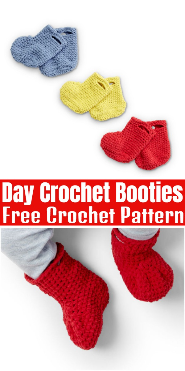 Day Crochet Booties