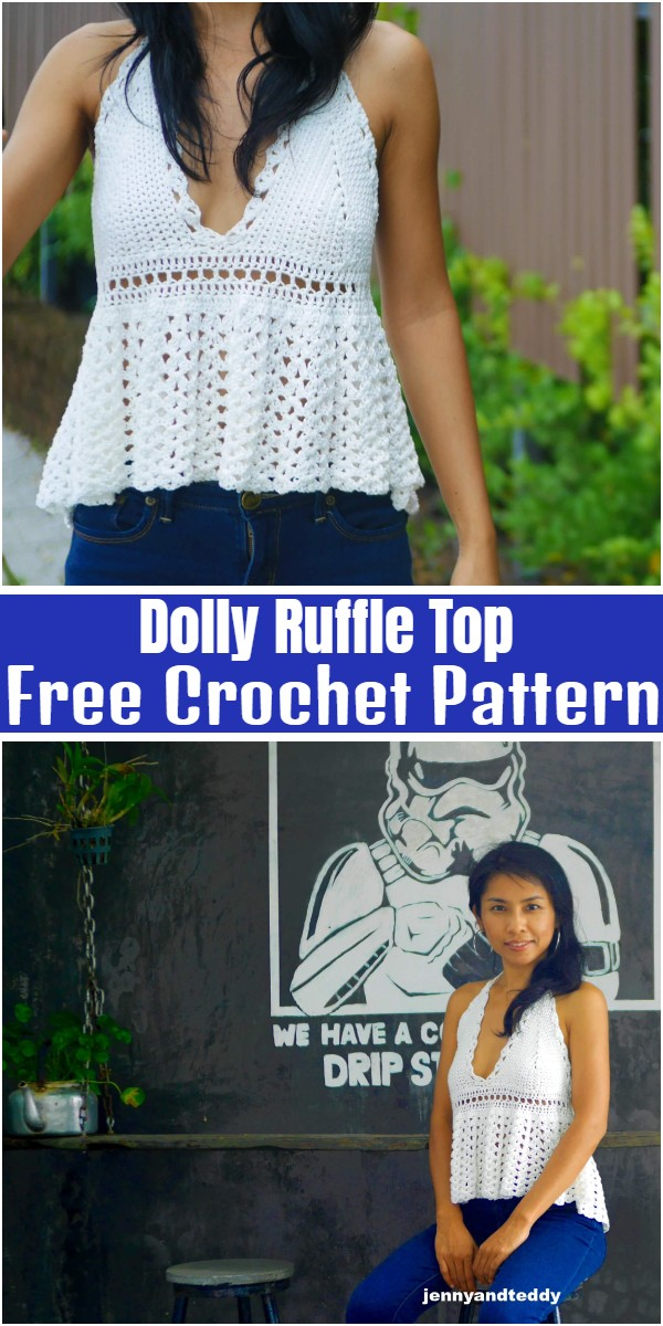 Dolly Ruffle Top Free Crochet Pattern