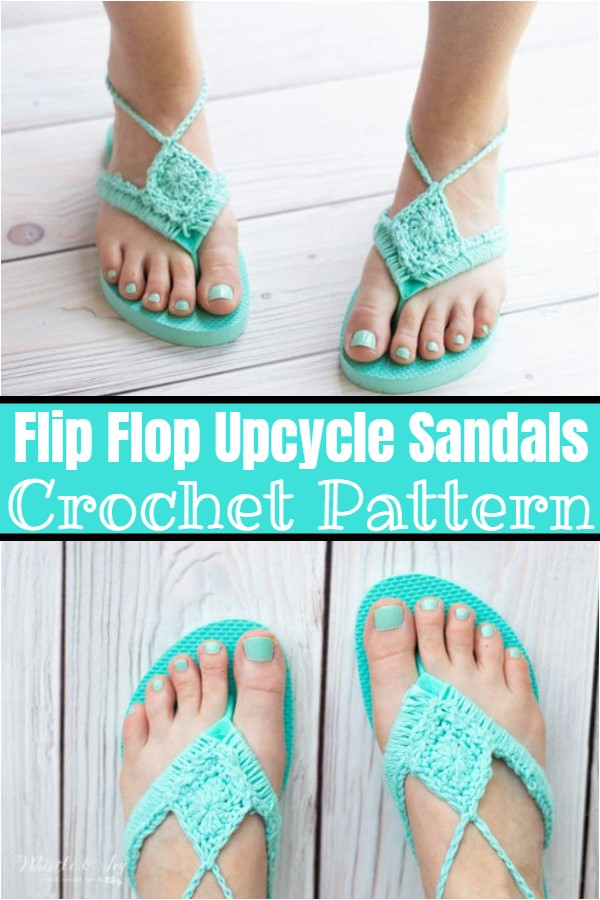 Flip Flop Upcycle Sandals