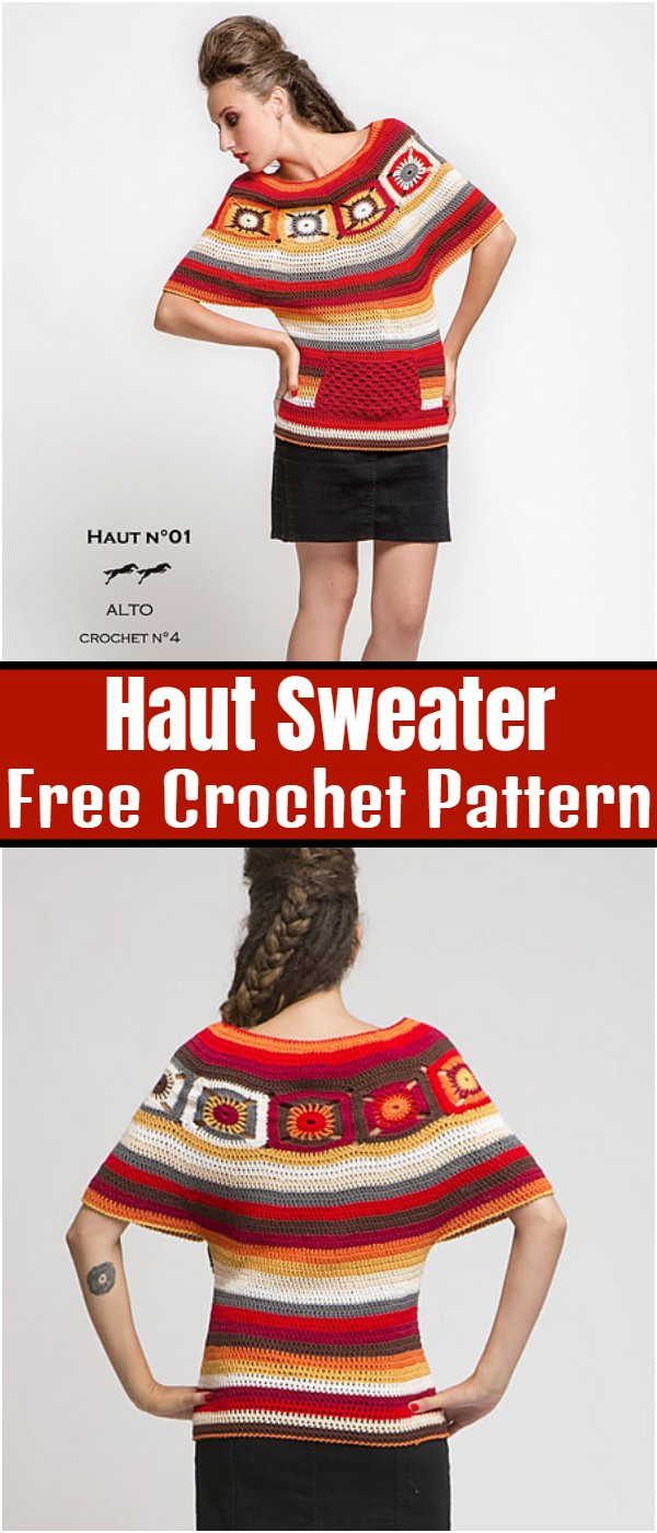 Haut Sweater Free Crochet Pattern