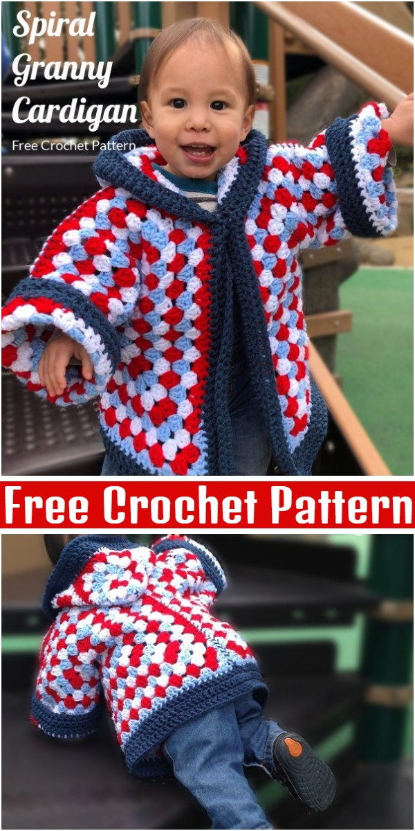 Hexagon Granny Square Hooded Cardigan Pattern