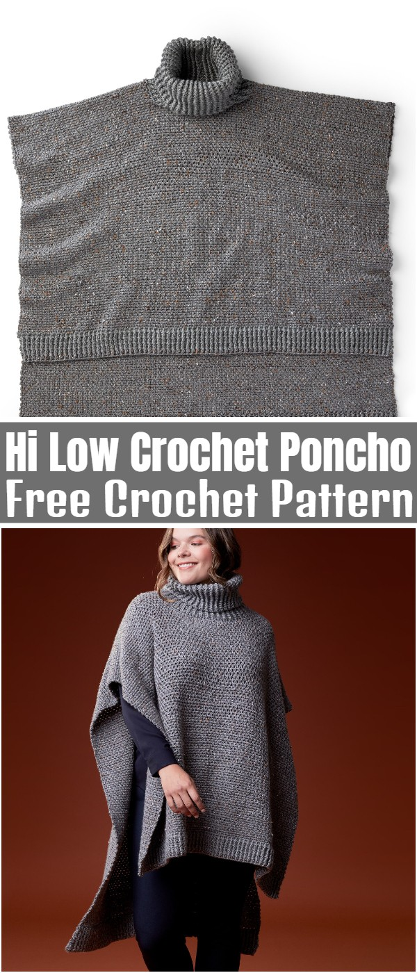 Hi Low Crochet Poncho