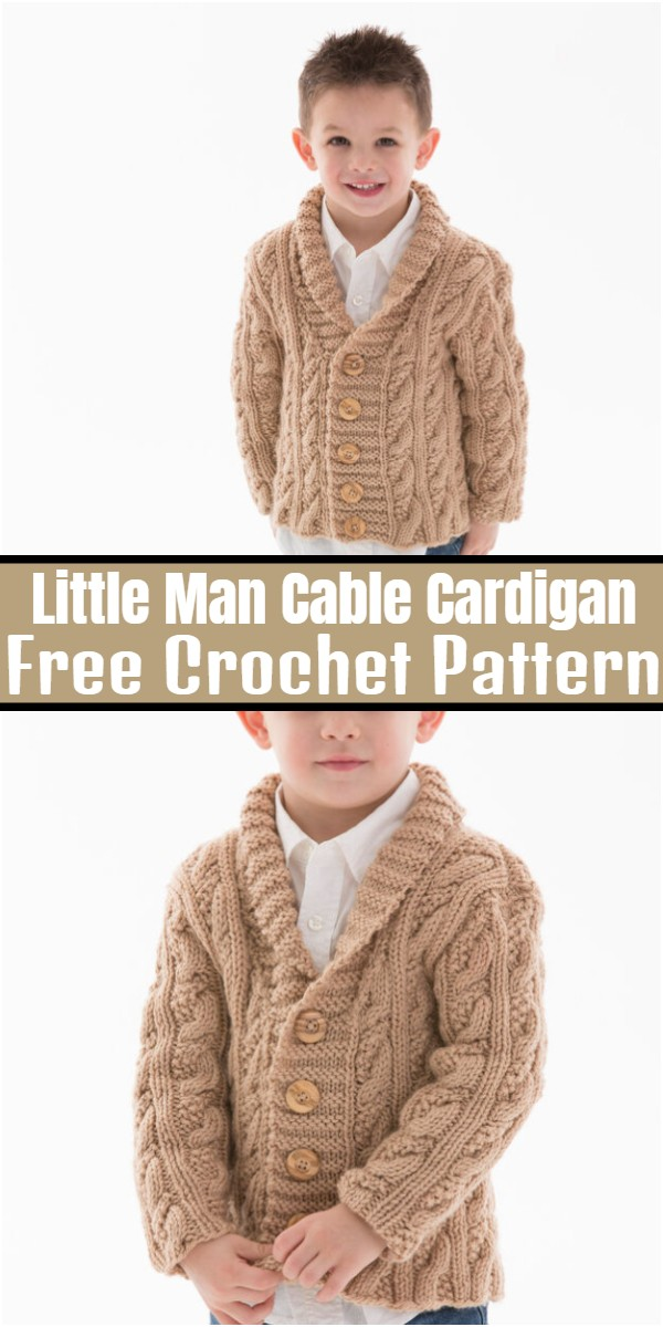Little Man Cable Cardigan