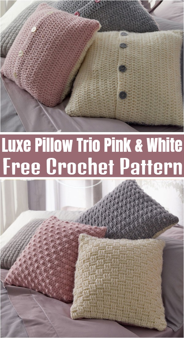 Luxe Pillow Trio Pink & White