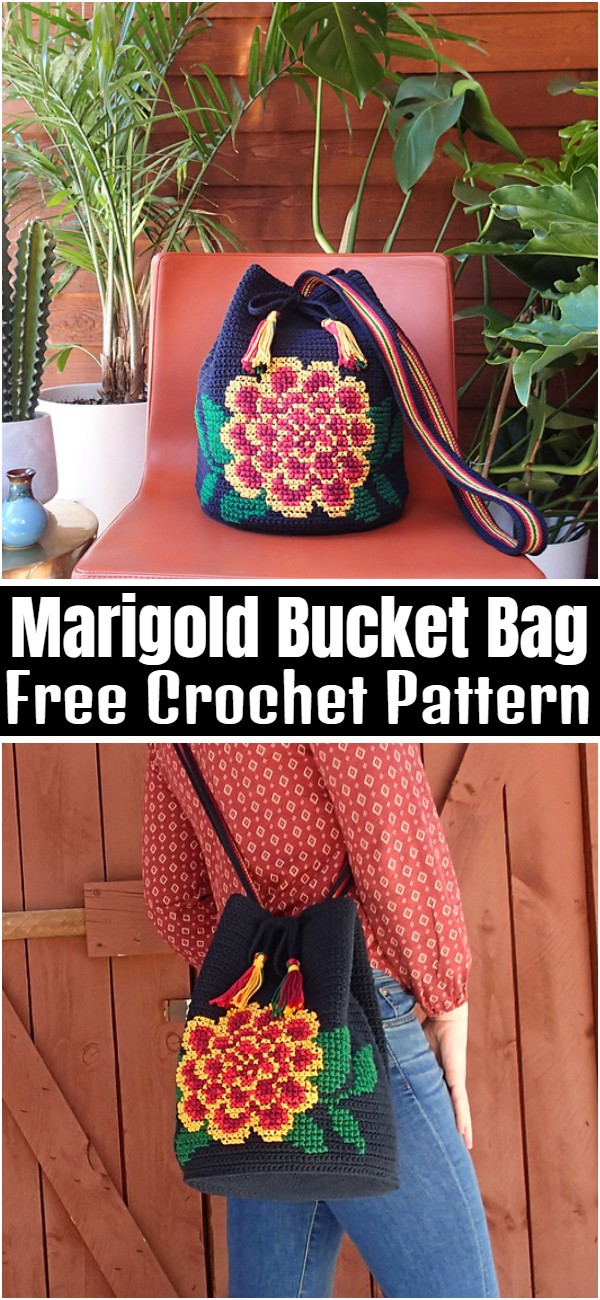 Marigold Bucket Bag Free Crochet Pattern