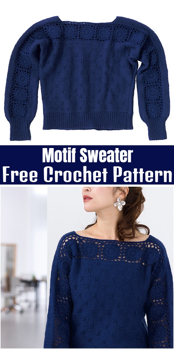 Motif Sweater Free Crochet Pattern