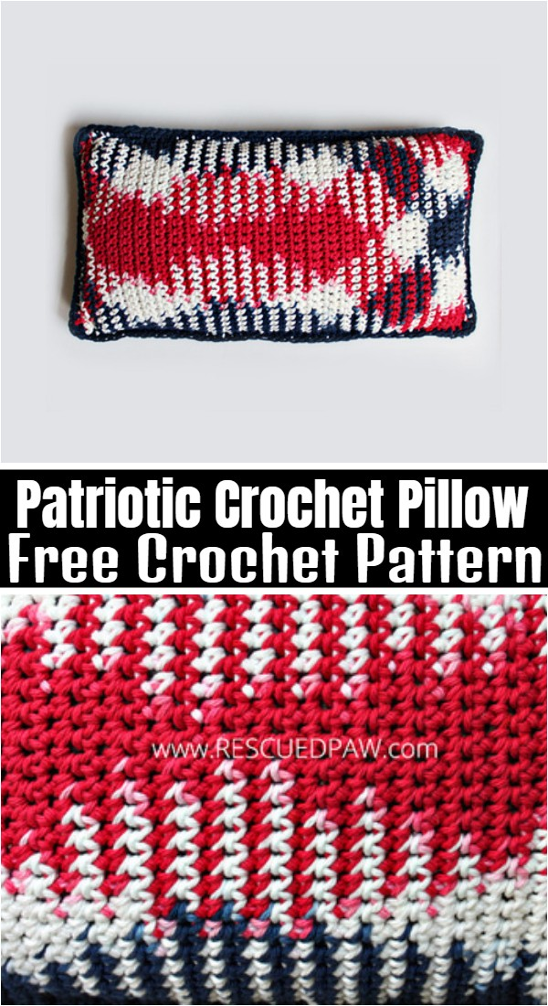 Patriotic Crochet Pillow Pattern