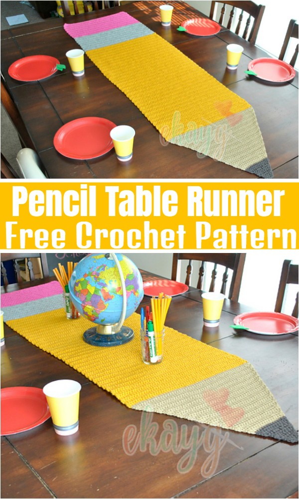 Pencil Table Runner