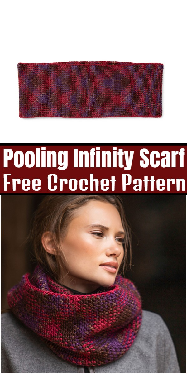 Pooling Infinity Scarf Free Crochet Pattern