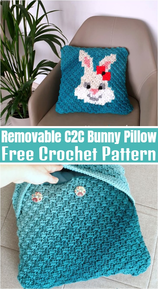 Removable C2C Bunny Pillow