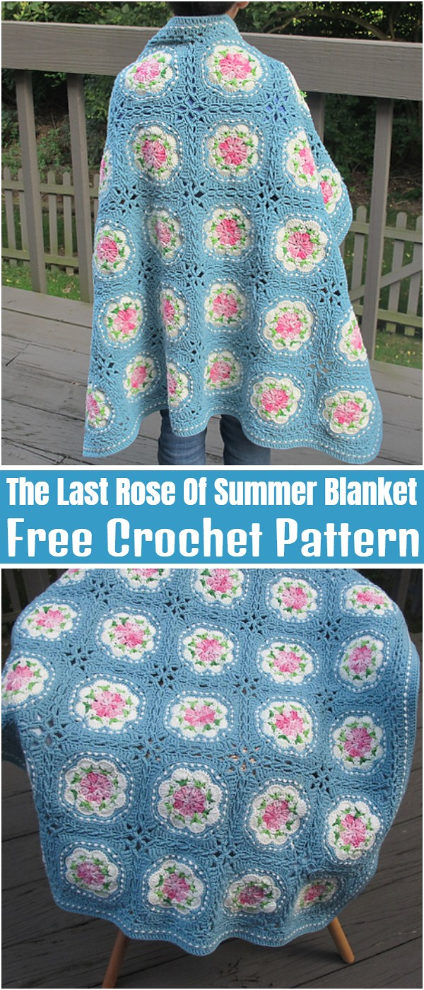 The Last Rose Of Summer Blanket Free Crochet Pattern