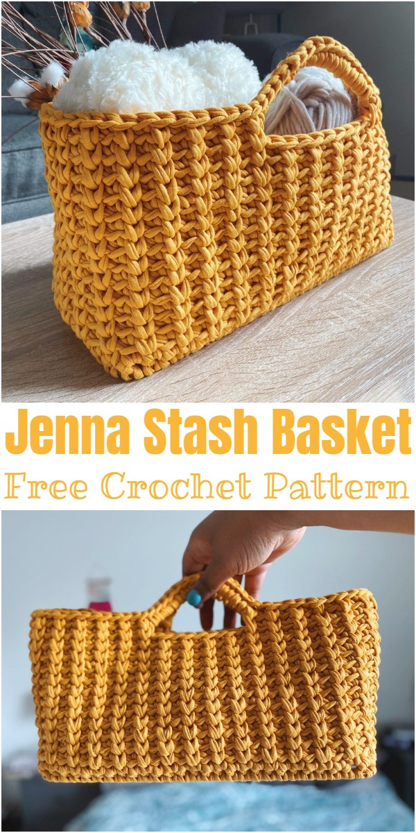 Crochet Jenna Stash Basket Pattern