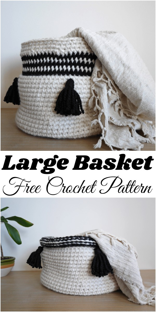 Crochet Large Basket Pattern