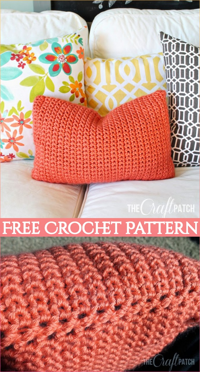 Easy Free Crochet Throw Pillow