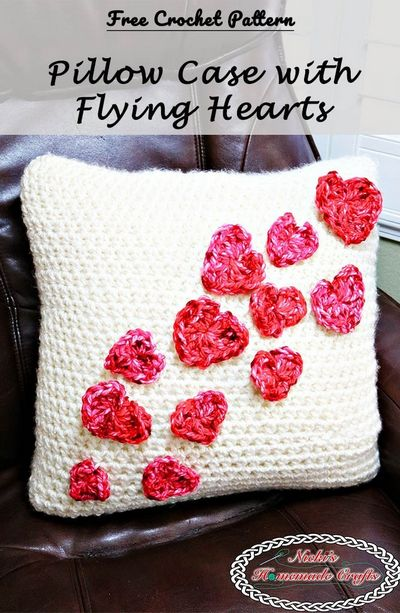 Free Crochet Pillowcase With Hearts Pattern