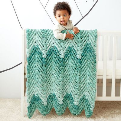 Free Crochet Ridged Baby Blanket Pattern
