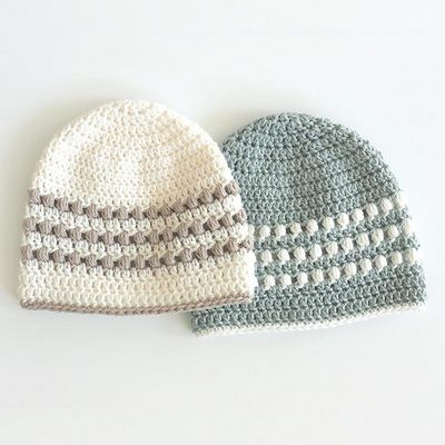 Free Crochet Baby Puff Stitch Hat Pattern