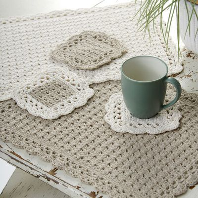 Free Crochet Options Placemat Coaster Pattern