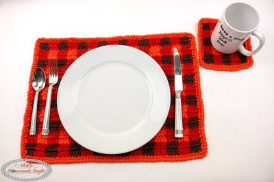 Free Crochet Simple Plaid Coasters Pattern