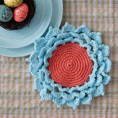Free Crochet Spring Flower Coaster Pattern