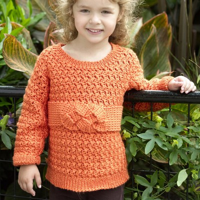 Crochet Child's Friendship Knot Sweater