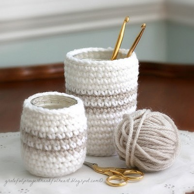 Crochet Cozy For Jars Or Cans