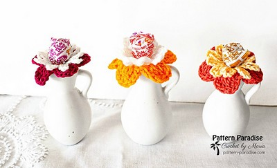 Crochet Flower Lolli Holders