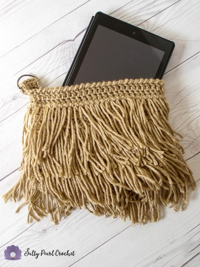 Crochet Fringe Clutch Purse Pattern