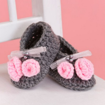 Crochet Little Miss Booties Pattern