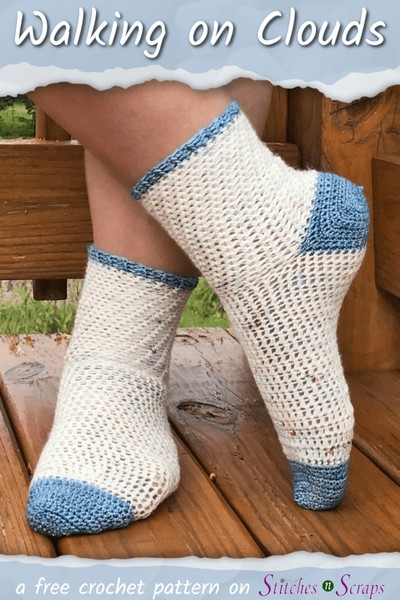 Crochet Socks Pattern Walking On Clouds
