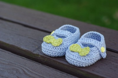 Free Crochet Pattern For Baby Booties Mary Janes