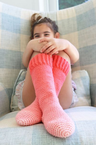 Free Crochet Red Heart Kids Slipper Socks Pattern