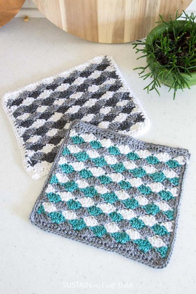 Simple Shells Easy Free Crochet Dishcloth Pattern