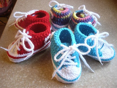Stylish Crochet Baby Booties