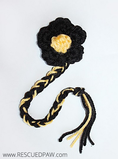 Summer Bee Crochet Flower & Bookmark