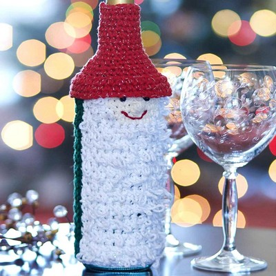 Wine Bottle Cozy Free Crochet Pattern