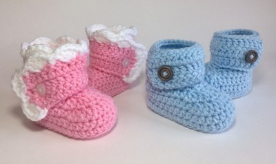 Wrapped Baby Booties Crochet Pattern