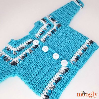 Free Crochet Essential Baby Sweater Pattern