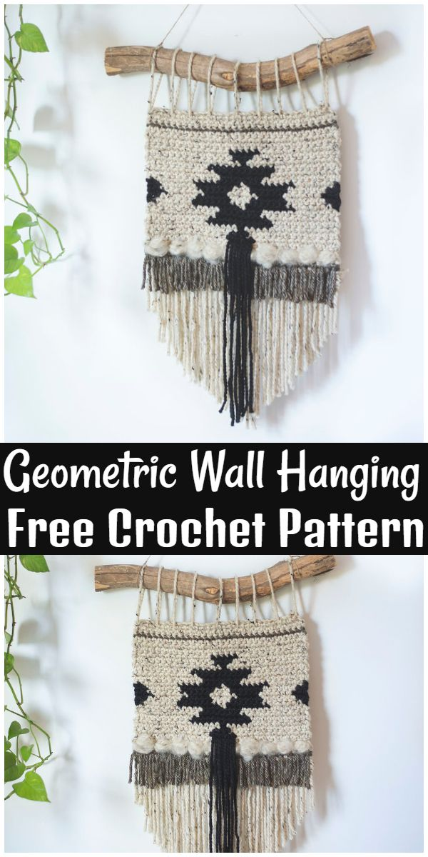 Free Crochet Geometric Wall Hanging Pattern