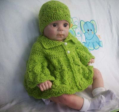 Free Crochet Shy Butterfly Baby Sweater Pattern