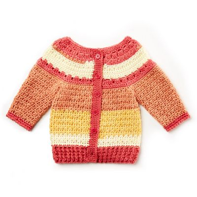 Free Crochet Stripes Baby Sweater Pattern
