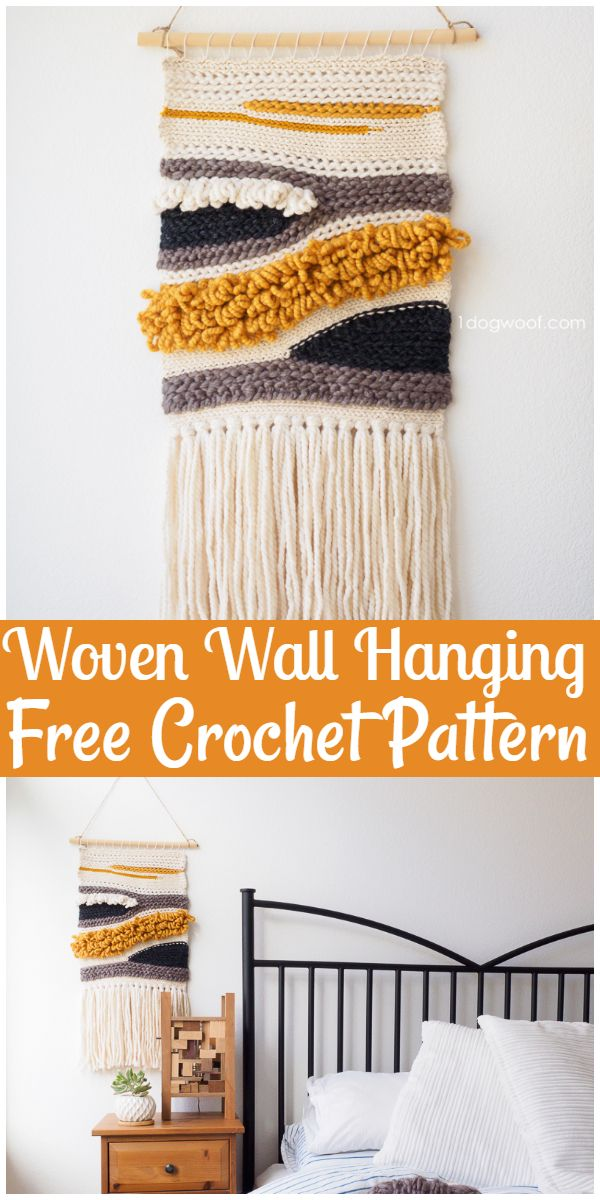 Free Crochet Woven Wall Hanging Pattern